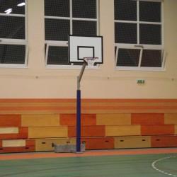 Streetball állvány, 0,5 m benyúlással ST ellensúlyos, gurítható Sportszer Drenco