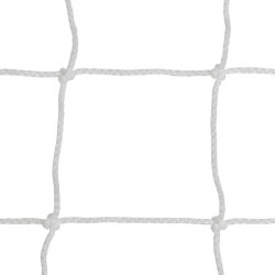 Labdarúgó-kapuháló 12x12 cm, ejtett nagypályás kapuhoz, fehér Sportszer Drenco