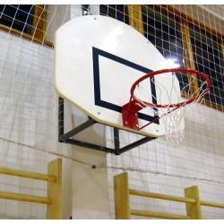 Kosárállvány, fali fix, 0,4 m beny. streetball palánkhoz Sportszer Drenco