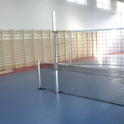Kombinált hálótartó állvány, hüvelyes (röplabdához és teniszhez), beltéri Sportszer Drenco