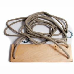 Kötélszáras laphinta, natúr óvodai gyűrűs kötéllel, 1,7 m Játék