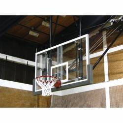 Kosárpalánk, 180x105 cm plexi ST fémkerettel, festve Sportszer Drenco