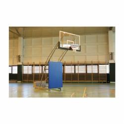 Kosárállvány, mobil, összecsukható 2,25 m benyúlással, beltéri Sportszer Drenco