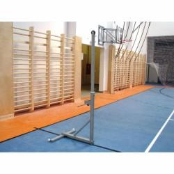Kombinált hálótartó állvány, menetes lefogatóval (röplabdához és teniszhez) Sportszer Drenco