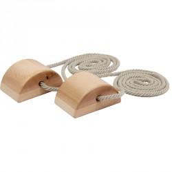 Lépegető félhenger, fa Fa egyensúlyozó eszközök