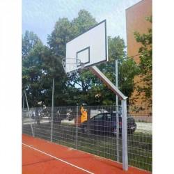 Kosárállvány, kültéri, lebetonozható 1,65 m benyúlással, 1 oszlopon áll Sportszer Drenco
