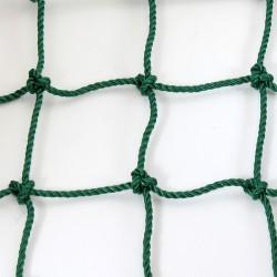 Védőháló 10x10 cm, 5 mm kézi csomózású zöld Sportszer