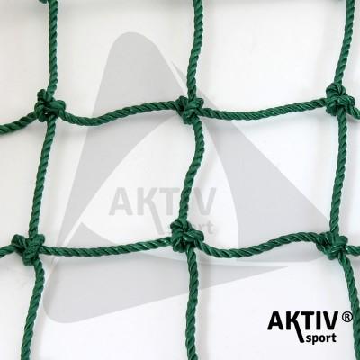 Védőháló 12x12 cm, 5 mm kézi csomózású zöld