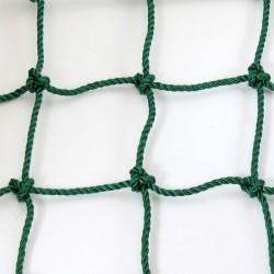 Védőháló 12x12 cm, 5 mm kézi csomózású zöld Sportszer
