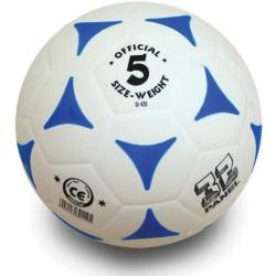 Football kogelán fehér-kék méret: 5 Sportszer