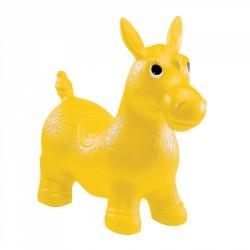 Ugráló póni, 60 cm kerület, sárga Sportszer
