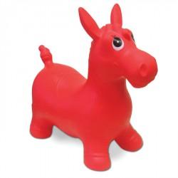 Ugráló póni, 60 cm kerület, piros Sportszer