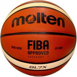 Kosárlabda Molten GL7X bőr olimpiai versenylabda Sportszer Molten