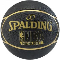 Kosárlabda Spalding NBA Highlight kültéri méret: 7 fekete/arany Sportszer Spalding
