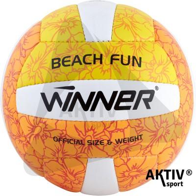 Beach Fun röplabda sárga-narancs