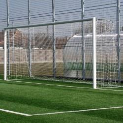 Labdarúgó-kapu, nagypályás, fehér, 7,32 m x 2,44 m FIFA előírásnak megfelel Sportszer Drenco