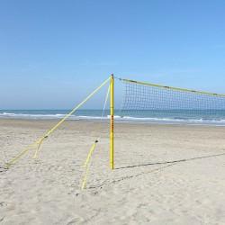 Strandröplabda állvány szett Beach Masters 9,5 m hálóval Sportszer