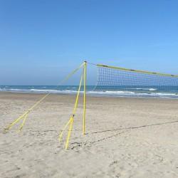Strandröplabda állvány szett Fun Volley 9,5 m hálóval Sportszer