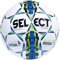 Futsal labda Select Attack fehér-kék Sportszer Select