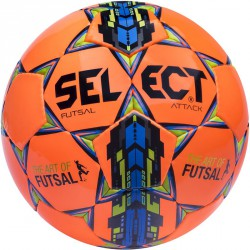 Futsal labda Select Attack narancs-kék Futball labda Select