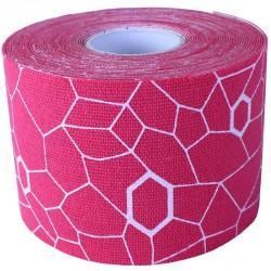 Kineziológiai tapasz Thera-Band 500x5 cm rózsaszín, fehér mintával Sportszer Thera-Band