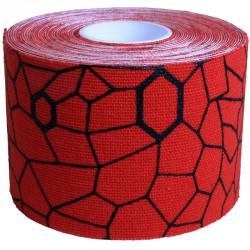 Kineziológiai tapasz Thera-Band 500x5 cm piros, fekete mintával Sportszer Thera-Band