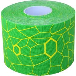Kineziológiai tapasz Thera-Band 500x5 cm zöld, sárga mintával Sportszer Thera-Band