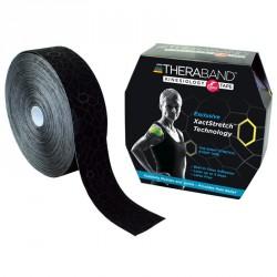 Kineziológiai tapasz Thera-Band 31,4 m x 5 cm fekete, fekete mintával Sportszer Thera-Band