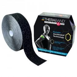 Kineziológiai tapasz Thera-Band 31,4 m x 5 cm fekete, szürke mintával Sportszer Thera-Band