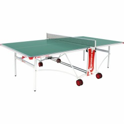 Sponeta S3-86e zöld kültéri ping-pong asztal fehér lábakkal Sponeta ping-pong asztal Sponeta
