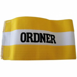 Bírói karszalag sárga-fehér Sportszer Spartan