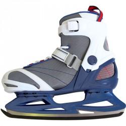 Jégkorcsolya Soft Saxo szürke-kék-fehér Sportszer Spartan