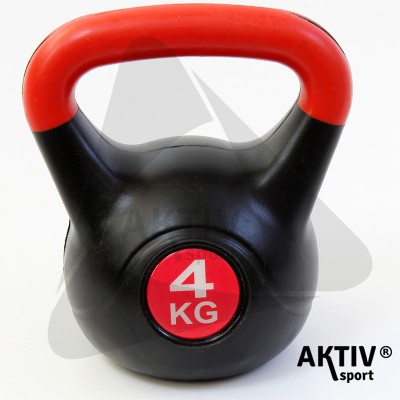 Kettlebell 4 kg műanyag