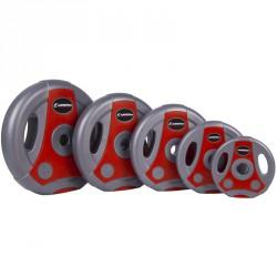 Súlytárcsa Ergo 1,25 kg szürke-piros Sportszer