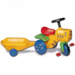 Kerti traktor utánfutóval Pedálos járművek
