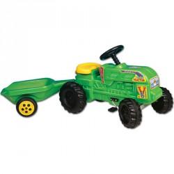 Farmer traktor utánfutóval Pedálos járművek