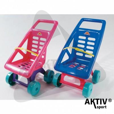 Műanyag játék babakocsi