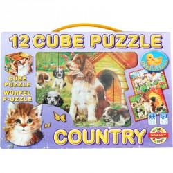 Mesekocka 12 db Country Készségfejlesztő játékok