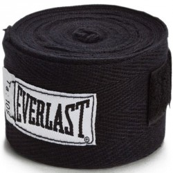 Pamut bandázs Everlast 2,75 m fekete Sportszer Everlast