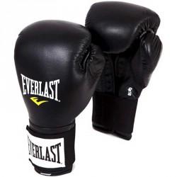 Edzőkesztyű bőr Everlast tépőzáras fekete Sportszer Everlast