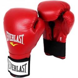 Edzőkesztyű bőr Everlast tépőzáras piros Sportszer Everlast