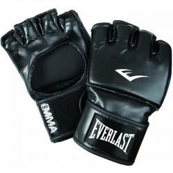 Grappling kesztyű Everlast műbőr fekete hüvelykujj nélkül Sportszer Everlast