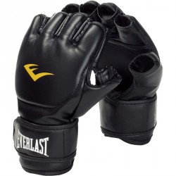 Grappling kesztyű Everlast bőr fekete Sportszer Everlast