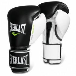 Bokszkesztyű Everlast Powerlock tépőzáras fekete-fehér Sportszer Everlast