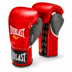 Bokszkesztyű Everlast Pro Fight piros- szürke Sportszer Everlast