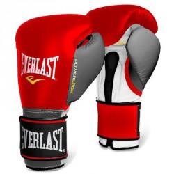 Bokszkesztyű Everlast Powerlock tépőzáras piros-fehér Sportszer Everlast