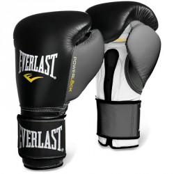 Bokszkesztyű Everlast Powerlock tépőzáras fekete-szürke Sportszer Everlast