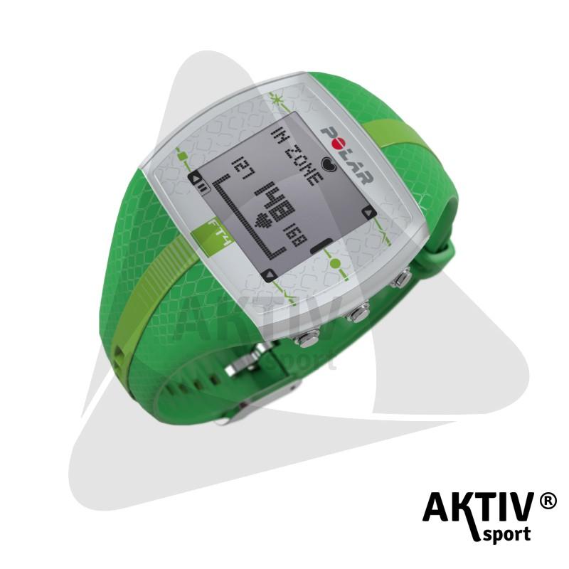 Polar FT4 női pulzusmérő óra sötétzöld világoszöld csíkkal ... cf3941d493