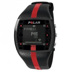 Polar FT7 Férfi pulzusmérő óra fekete piros csíkkal Sportórák, lépésszámlálók Polar