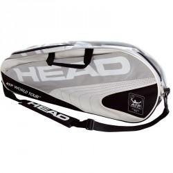Head ATP No.1 teniszütő szürke-fehér ATP World Tour tenisztáskával Sportszer Head